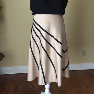 WHBM black striped skirt EUC 4